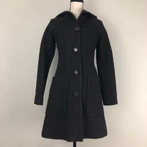 Soia & Kyo Hooded Wool Trench Coat